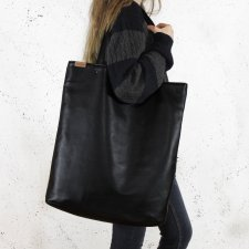 Mega Shopper bag czarny
