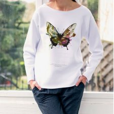 BUTTERFLY PAINTED Bluza Oversize