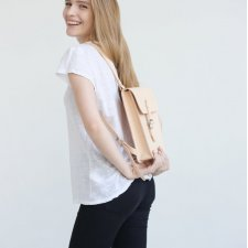 Small Leather Backpack (Natural)