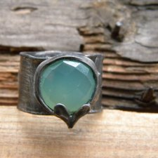 Roman Ancient Ring ;) chalcedon aqua
