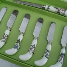 portmeirion chesee knife and 6 spreaders - komplet   Botanic  Garden by Susan Williams Ellis
