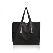 Torba XL BLACK Mint Coral - torba miejska shopper