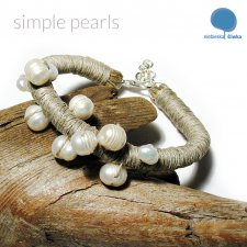 simple pearls - bransoleta