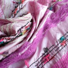 Silk wool exclusive scarf