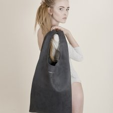 Graphite Hobo Bag