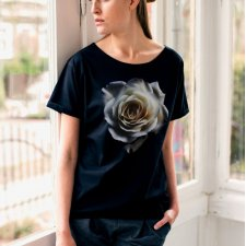 WHITE ROSE Oversize T-shirt