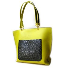Shopper limonka i croco