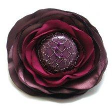 Romantyczny kwiatek z jadeitem