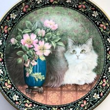 Royal Doulton - Lesley Anne Ivory ❤  CATS ON MINTON TILES ❤ Koci talerz ❤