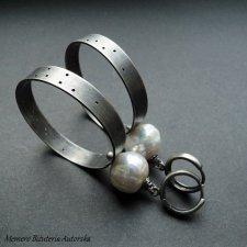 Kolczyki Koła Maxi z perłami
