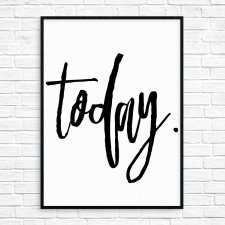 """today."" Plakat A3"