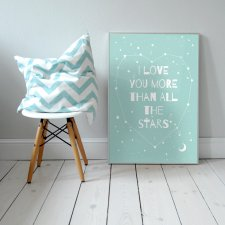 "Plakat 50x70 cm ""I love you more than all the stars """
