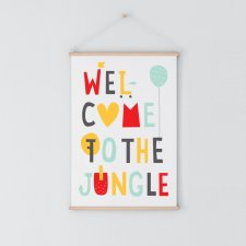 WELCOME TO THE JUNGLE | Plakat A3