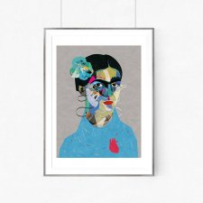 Frida Kahlo illustration Art Giclee Print - A2