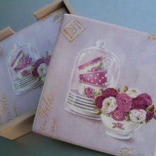leonardo  2010 angela staehling by art in motion  set of 4 coasters with holder
