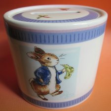 Wedgwood - Peter Rabbit - Frederick Warne & Co - szlachetnie porcelanowy skarbonka