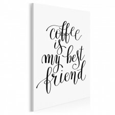Napis na płótnie - COFFEE IS MY BEST FRIEND - 50x70 cm (56851)