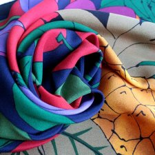 Exclusive silk fruit scarf