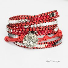 Bransoleta Boho Light Red