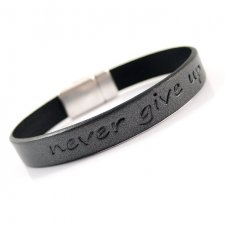 "Bransoletka ""Never give up"" - Man"
