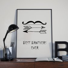 Plakat Best brothers ever w ramie