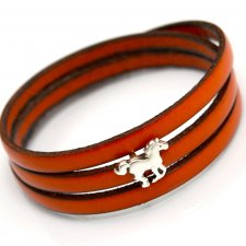 bransoletka MAGNETOOS triple small HORSE orange