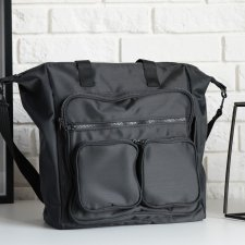 Torba Many Pockets Black 100% vege