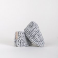 Small Winter Bamboshe – Light Grey 6-12 miesięcy