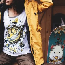 Bluzka Ice Bear Yellow 3/4 Raglan Tee XS