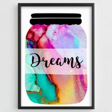 "Plakat A3 ""Jar with Dreams"""