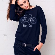 BIKE GIRL Bluzka Oversize