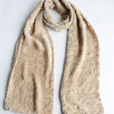 Exclusive velvet scarf silk