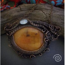 Wisior dragon eye wire wrapping