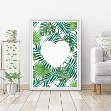 "Plakat 30x40 ""Tropical Leaves"""