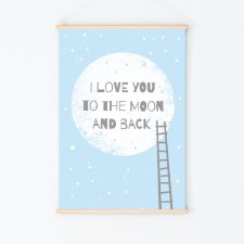 To the moon and back | plakat A3