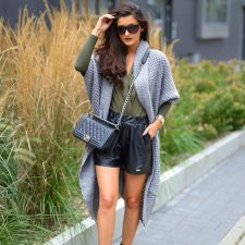 Asymetryczny Długi Sweter Płaszcz