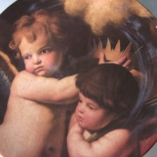 Royal Worcester 1994 - LITTLE ANGELS   - COMPTON & WOODHOUSE  -kolekcjonerski talerz porcelanowy
