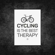 plakat. Cycling is the best therapy (format A3)