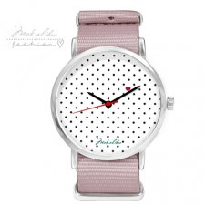 12 % LOVE dots Watch - pink