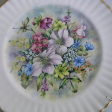 Royal VALE - WINTER - Flowers  of the Season-DUŻY 27 CM średnicy porcelanowy talerz kolekcjonerski