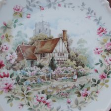 Royal Albert 1984  Summer  the  cottage garden year series kolekcjonerski talerz porcelanowy