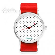 12 % LOVE dots Watch - red