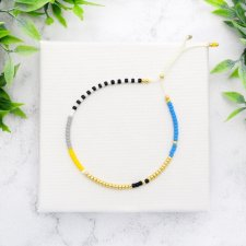 Bransoletka Minimal Dots - Blue and Yellow