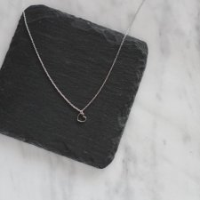 Rhodium Plated Tiny Heart Necklace no 2