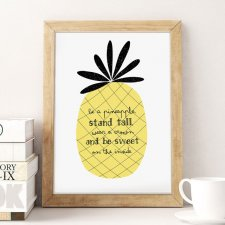 Plakat- Be a pineapple(...) A3