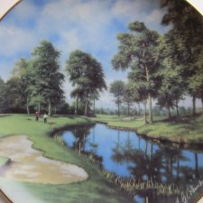 Danbury Mint - A.G.COLEMAN - GOLF COURSES OF THE BRITISH  ISLES - THE 10TH AT THE BELFRY - KOLEKCJONERSKI TALERZ PORCELANOWY