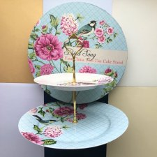 W ptasim gaju ❀ڿڰۣ❀ BIRD SONG - Two Tier Cake Stand - MARKOWA PORCELANA, SYGNOWANA