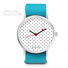 12 % LOVE dots Watch - turkusowy