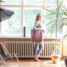 6e2d83a2f9de6 Big Lazy bag torba różowa na zamek   vegan   eco