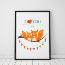plakat. i love YOU (format A3)